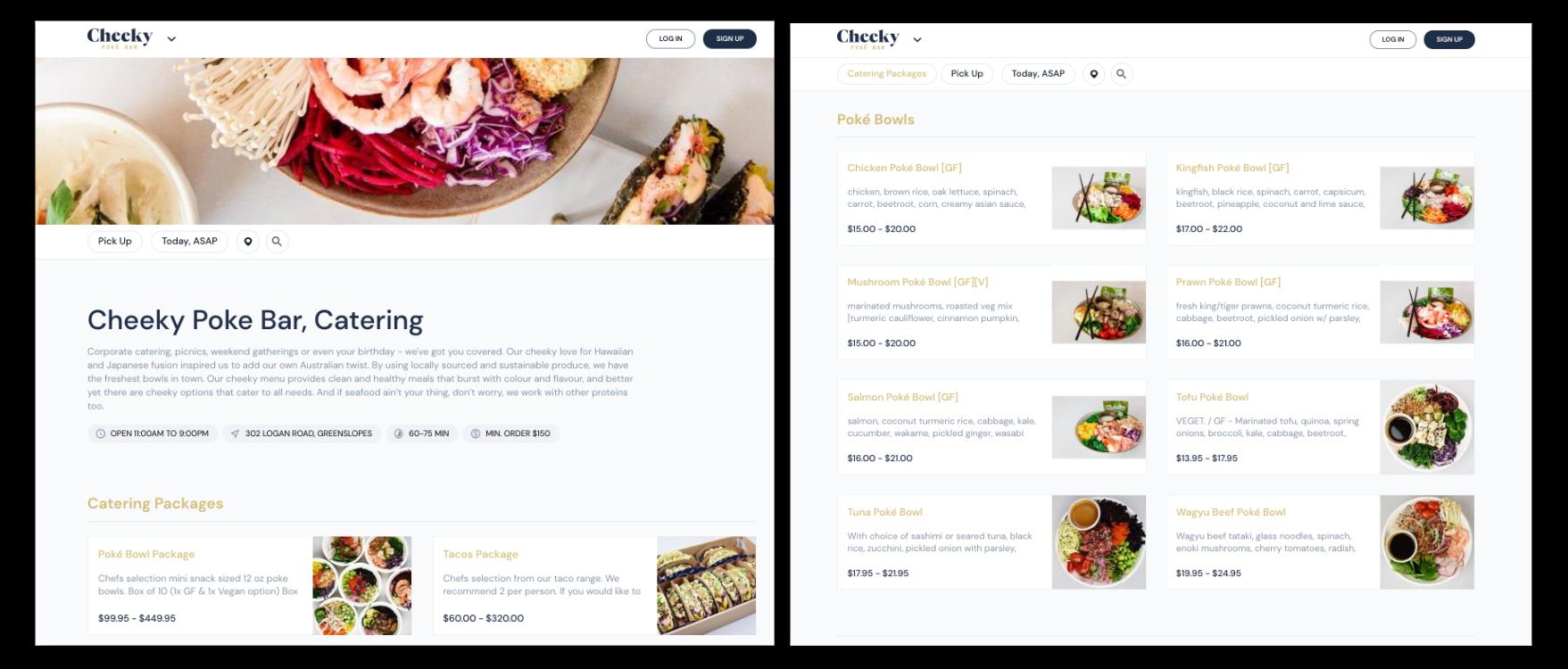 Cheeky Poke Bowl online menu on Bopple